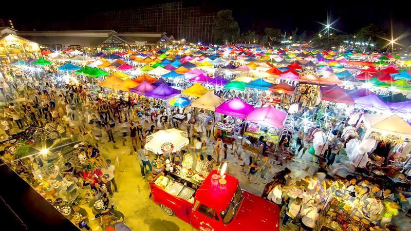 بازار شبانه روفائی تایلند
