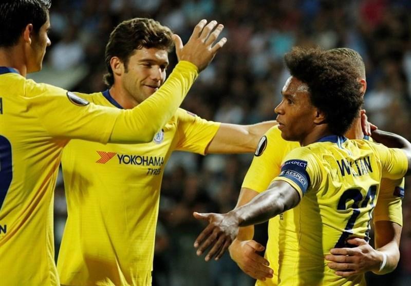 فوتبال دنیا، چلسی با حداقل اختلاف پیروز شد، لاتزیو گام اول را محکم برداشت
