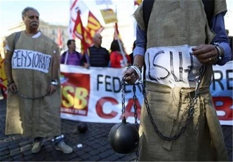 اعتصاب کارکنان بخش های دولتی در ایتالیا در اعتراض به کاهش بودجه