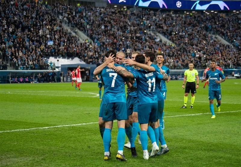نخستین پیروزی زنیت در لیگ قهرمانان اروپا با گل آزمون به روایت تصویر