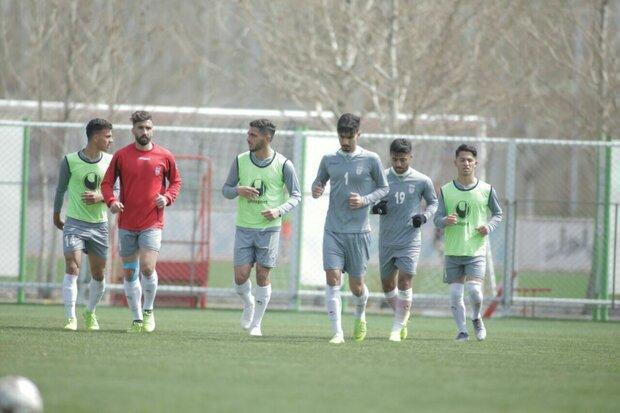 پیگیری تمرینات تیم فوتبال امید پیش از سفر به اندونزی