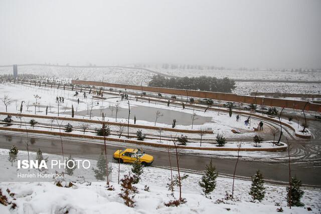برف بهاری در شیراز