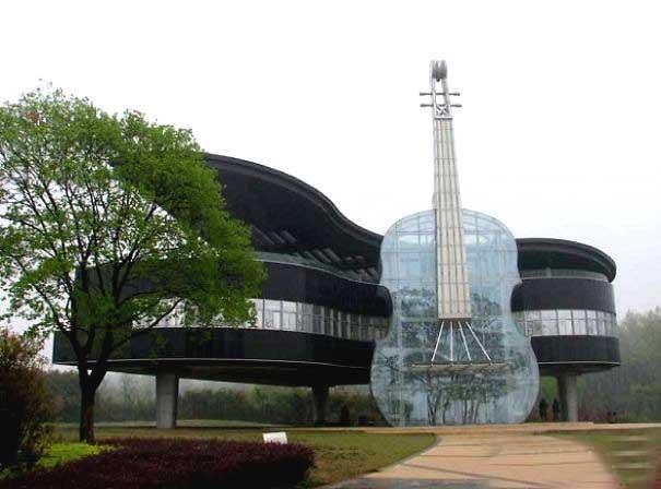 معماری خاص چینی ؛ساختمانی به شکل گیتار!