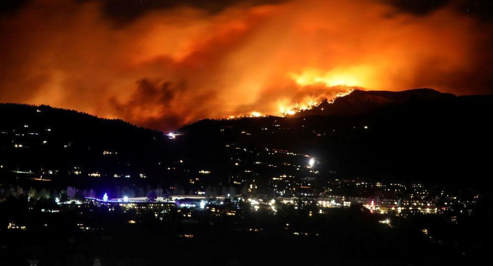 گسترش آتش سوزی در کلرادو