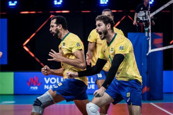 تیم ملی والیبال فرانسه مقابل برزیل زانو زد، برزیل در فینال لیگ ملت های والیبال